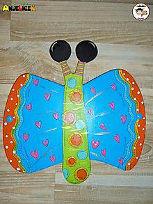 Detské doplnky - Dekorácia na zavesenie - Motýle - 12727336_
