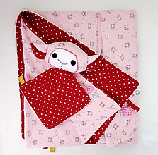 Textil - Detská deka - Ružová z Malého Srdiečkova - 12723785_