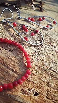 Sady šperkov - Vianočná sada s červeným koralom - 12725512_