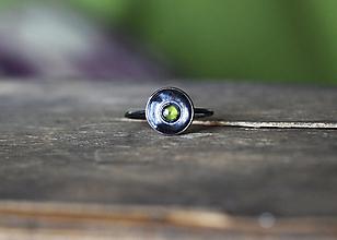 Prstene - Hadí oko ... v patinovanom striebre - 12727948_