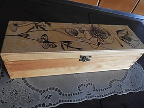 Krabičky - Originální šperkovnice s máky - 12727064_