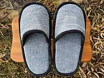 Obuv - Bledomodré riflové papuče - 12724032_