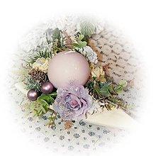 Dekorácie - Vánoční svícen - Trojúhelník do fialkova - 12723729_