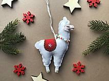 Dekorácie - Lama ozdoba na vianočný stromček  - 12723687_