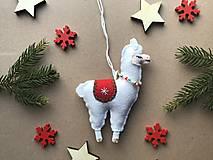 Dekorácie - Lama ozdoba na vianočný stromček  - 12723690_