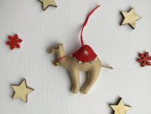 Dekorácie - Ťava ozdoba na vianočný stromček - 12723716_