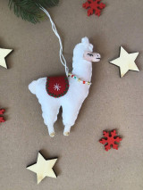Dekorácie - Lama ozdoba na vianočný stromček  - 12724373_