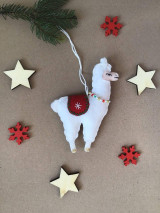 Dekorácie - Lama ozdoba na vianočný stromček  - 12724374_