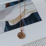 Náhrdelníky - Lúčne kvety zlatý náhrdelník - pink - 12727450_