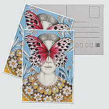"""Papiernictvo - Umelecká pohľadnica """"Scarlet"""" - 12727921_"""