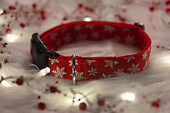 Pre zvieratká - Vianočný obojok SNOW - 12726036_