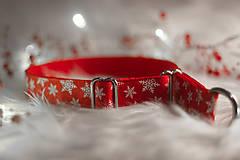 Pre zvieratká - Vianočný obojok SNOW - 12726038_