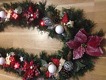 Dekorácie - Vianočna girlanda 3,2m - 12727272_