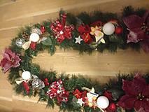 Dekorácie - Vianočna girlanda 3,2m - 12727276_