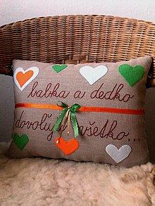 Úžitkový textil - vankúš - babka a dedko dovoľujú všetko... - 12730717_