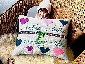 Úžitkový textil - vankúš - babka a dedko dovoľujú všetko... - 12730776_