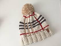 Čiapky - Damska vlnena ciapka - 12732087_