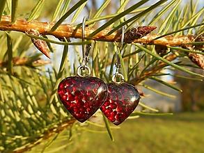 Náušnice - garnet hearts-granát-naušnice-srdiečka - 12733081_