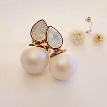 Náušnice - svadba náušnice perly - 12731184_