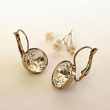 Náušnice - vintage náušnice zlaté svadobné - 12731422_