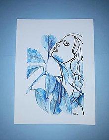 Obrazy - Ficus elastica a Dáma - 12728353_