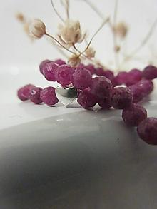 Náramky - Srdce rubínu - 12732564_