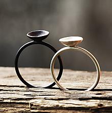 Prstene - strieborný koktejlový - 12733114_