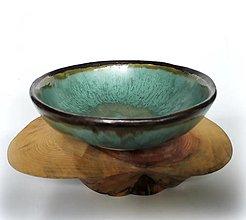 Nádoby - Keramická miska v tyrkysových tónoch - 12728854_