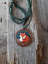 Náhrdelníky - Náhrdelník Líška v lese - 12729154_