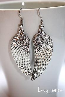 Náušnice - Anjelské krídla-strieborné :) - 12732288_