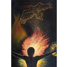 Obrazy - Posvätný oheň- artprint - 12730871_