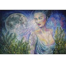 Obrazy - Mesačná žena-artprint - 12730979_