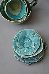 - tanierik, podšálka kruh príroda tyrkysová - 12731234_