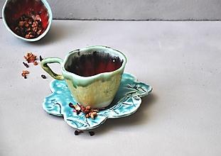 Nádoby - tanierik podšálka kvet čipka - 12731426_