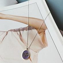 Náhrdelníky - Lúčne kvety strieborný náhrdelník - purple - 12729405_