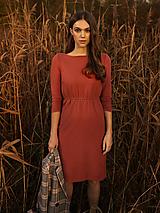 Šaty - Úpletové šaty malinové - 12731837_