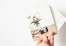 """- Autorská pohľadnica """" pivonkový pozdrav"""" - 12733353_"""