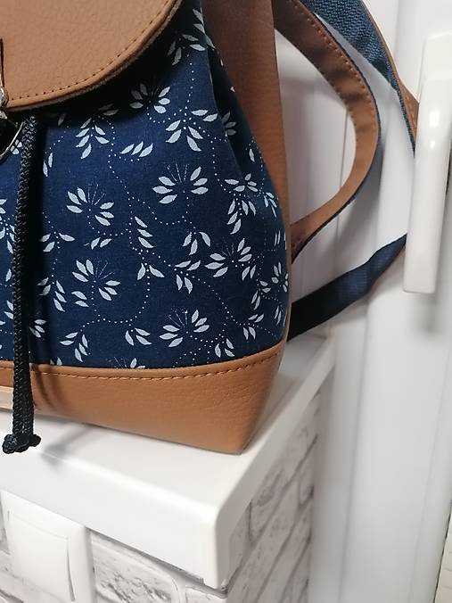 Modrotlačový batoh Martin hnedý 2