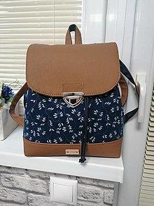 Batohy - Modrotlačový batoh Martin hnedý 2 - 12730439_