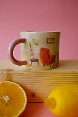 Nádoby - Hrnček z kolekcie Každý deň (Obývačka s pieckou) - 12731291_