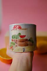 Nádoby - Hrnček z kolekcie Každý deň (Trhovisko s melónmi) - 12731311_