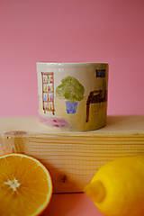 Nádoby - Hrnček z kolekcie Každý deň (Obývačka s pieckou) - 12731333_