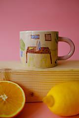 Nádoby - Hrnček z kolekcie Každý deň (Obývačka s pieckou) - 12731338_