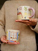 Nádoby - Hrnček z kolekcie Každý deň (Obývačka s pieckou) - 12731376_