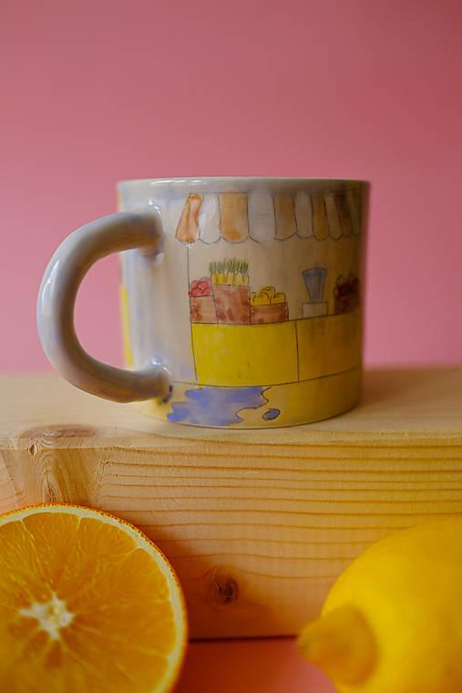 Hrnček z kolekcie Každý deň (Trhovisko s melónmi)