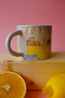 Nádoby - Hrnček z kolekcie Každý deň (Trhovisko s melónmi) - 12731202_