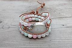 "Náramky - Náramok ""Crystal Pink"" - 12730830_"