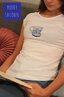 """Tričká - Dámske tričko """"Majolika"""" - 12731122_"""