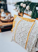 "Úžitkový textil - Macramé dekoratívny vankúš ""Indián"" - 12732737_"