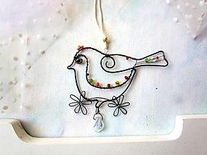 Dekorácie - vtáčik letáčik* 10 cm - 12731077_